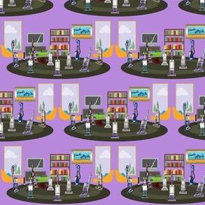 Vacuum the Livingroom Purple