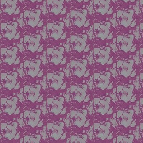 violet purple cabbage print