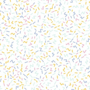 Geometric sprinkles and confetti