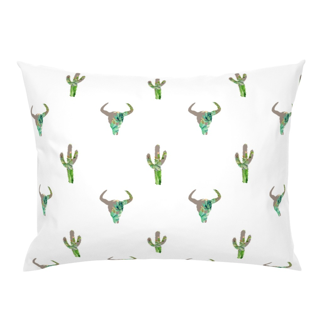 """Campine Pillow Sham featuring 7"""" He is Fierce /Mix & Match Option 3 with cactus by shopcabin"""