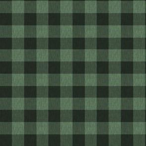 Textured Buffalo Plaid - Dark green and black