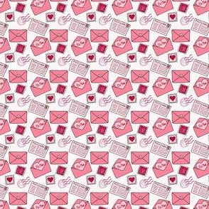 Valentine's Pattern - Be Mine Postcards - Medium