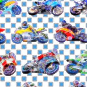 Motobikes 2 - Blue Checkers