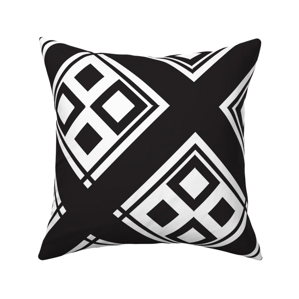 Catalan Throw Pillow featuring heavy_black_diamond_diamond_large by blayney-paul