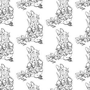 Peter Rabbit - Black and White Line art