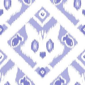 Ikat Cat - med light blue