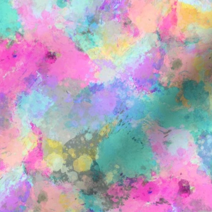 Watercolour Abstract Paint Amp Splatters P Spoonflower