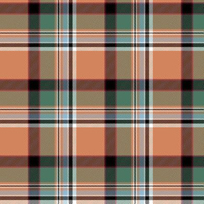 "Dundee asymmetrical tartan, 3"" weathered"