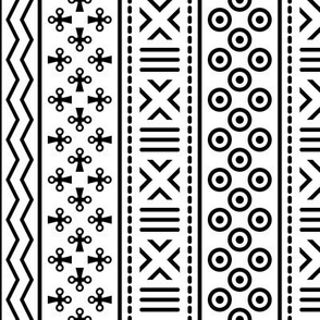 06898993 : mudcloth : white + black