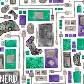 Nerd, Gamer or Computer Geek Pattern