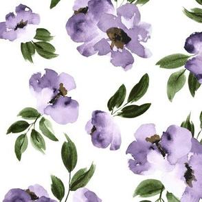 Ultra Violet Flowers Large