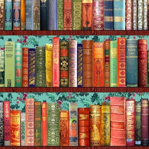 Antique Books // Vintage Bookshelf/ Christmas Vintage Books, holly berries, bookshelf, Christmas books, Holidays, Hygge