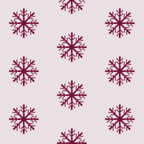 Magenta Snowflakes