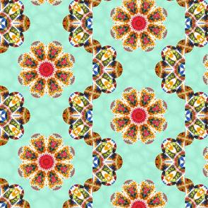 Mandala crochet wave petals quilt