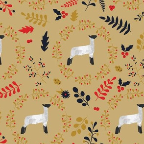 Fall Leaves & Lambs / Sheep