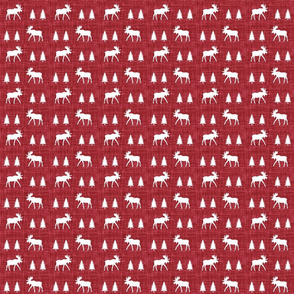moose trot // red linen // small