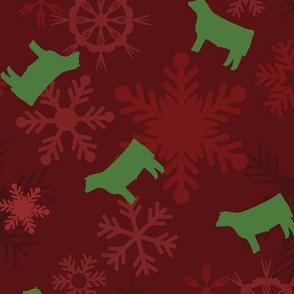 Snowflakes & Steers / Cattle / Cows