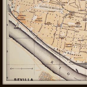 Sevilla map, Spain (large)