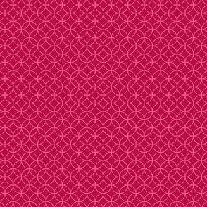 magenta with pink interlacing circles