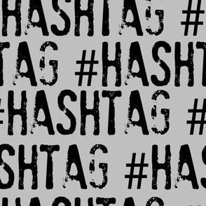 HAshtag, hashtag typography
