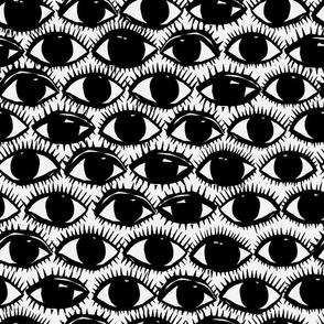 Inky Eyes   Black + White