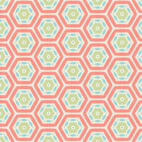 Coral Hexagons