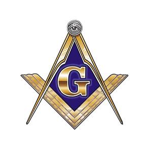 "12"" Masonic Square Compass Gold"