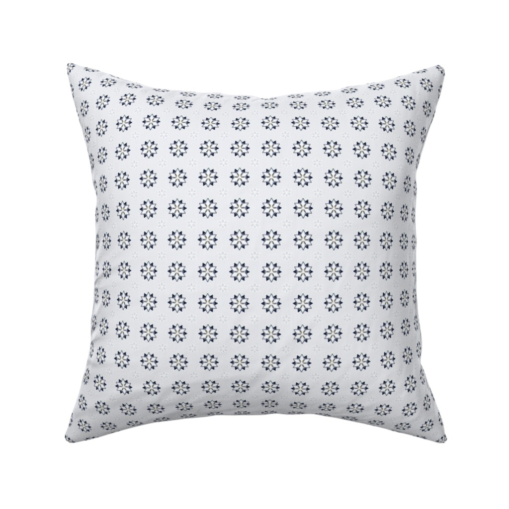 Catalan Throw Pillow featuring Wonderland Pinstripe by sowilofir