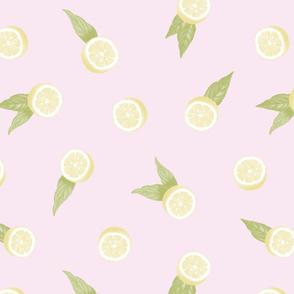 Lemons on Pink