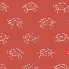 Crabs on Red