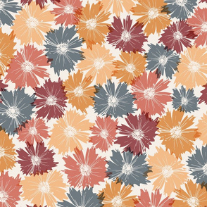 Fall Flowers in Orange & Maroon