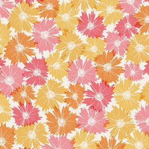 Fall Flowers in Pinks and Oranges