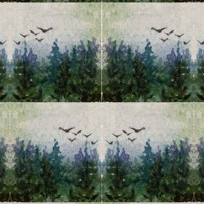 watercolor_landscape_with_trees_and_flying_birds