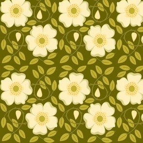 Wild Rose, olive, basic repeat