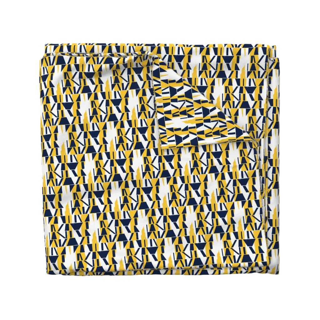 Wyandotte Duvet Cover featuring Oxford and Sunglow Abstract Stripe by mottle&daub