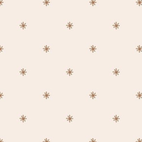 Scribble Daisy Scatter brown cream