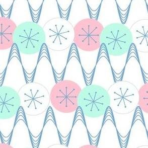 Atomic Snow Zig-Zag - mint & denim