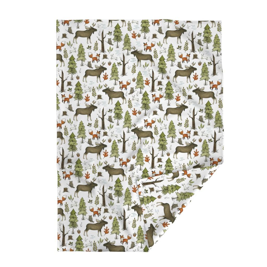 Lakenvelder Throw Blanket featuring Forest Walks, Large Scale by papercanoefabricshop