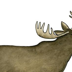 Watercolor Moose - Large
