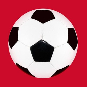 "6"" soccer ball on red"