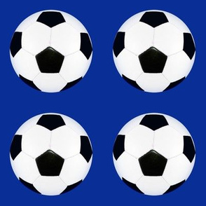 "blank 3"" soccer ball on blue"