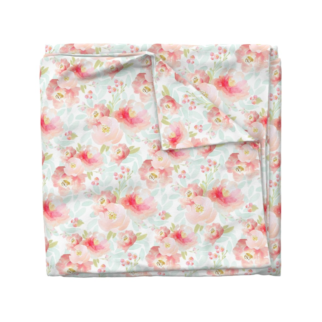 Wyandotte Duvet Cover featuring Indy Bloom Design Plush Pink Florals A2 by indybloomdesign