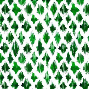 Green ikat watercolor pattern