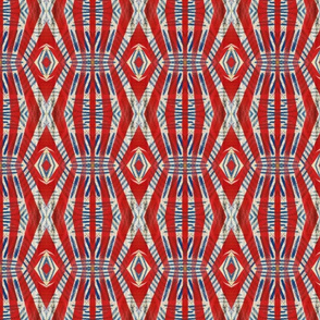 American Blues with Red and White, 3