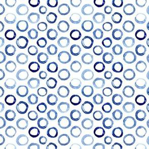 Watercolor blue circles mini