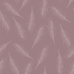 Wheat Leaves taupe and pink