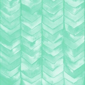 Watercolor Chevron in Mint // watercolor painted chevron baby mint green mermaid scale fabric