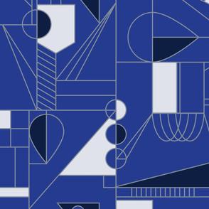 Abstract Hanukkah (Blue)