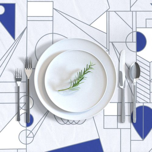 - Abstract Hanukkah Silver by joycekuan Hanukkah  Silver Blue  Cloth Napkins by Spoonflower Abstract Dinner Napkins Set of 2