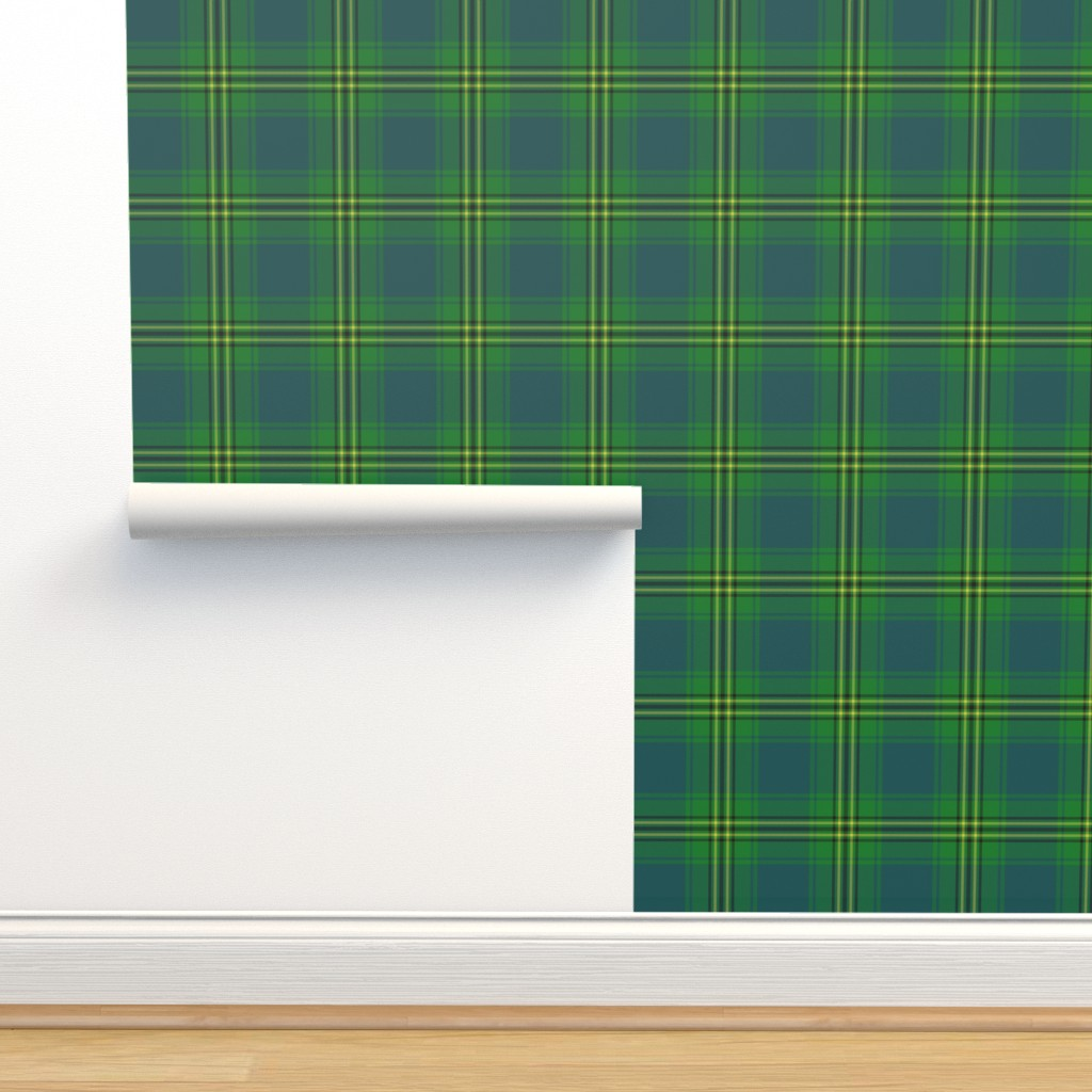 "Isobar Durable Wallpaper featuring Oliver hunting tartan, 6"" muted by weavingmajor"
